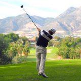 Golf swing at Golf Torrequebrada