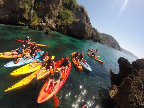 kayak paddle in spain water sport