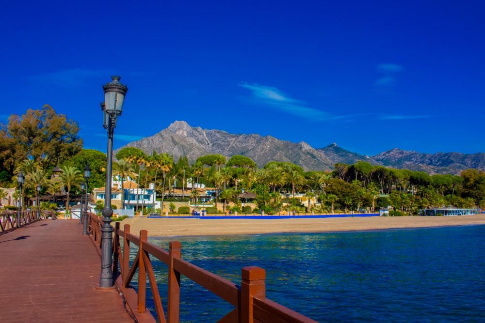 Marbella wooden pier