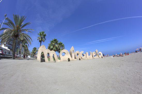 Malagueta beach in Malaga