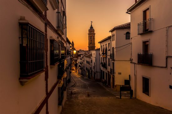 Antequera Spain sunset