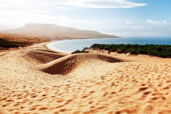Bolonia sand dune in Cadiz