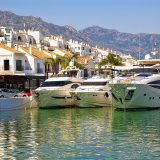 The marina at Puero Banus in Spain