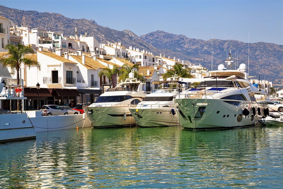 The marina at Puero Banus in Spain