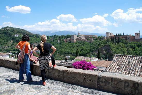 Two women at Mirador San Nicolas in Granada