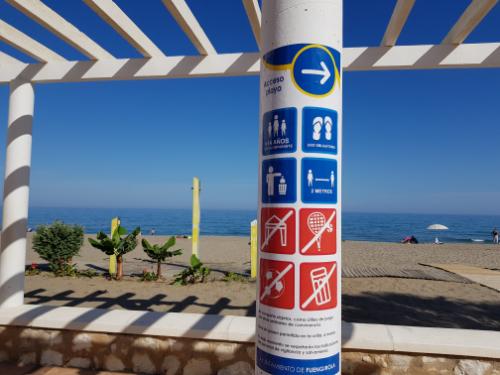 App beach capacity Costa del Sol