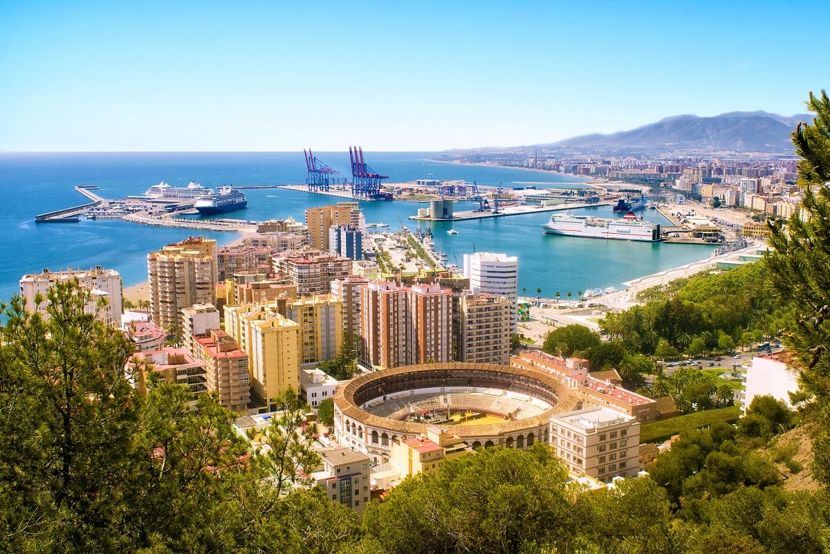 Scenic view of Malaga in Spain