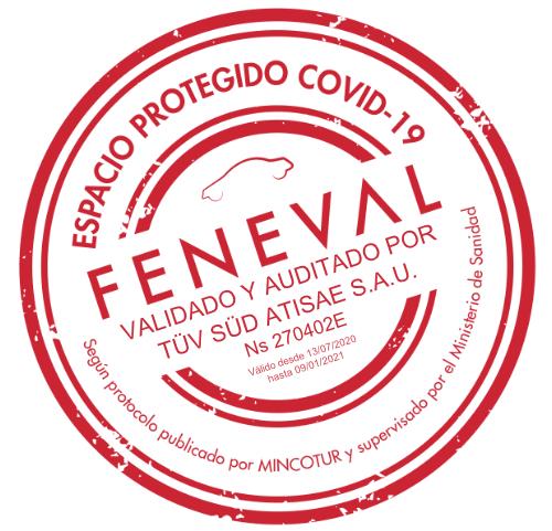 Sello espacio protegido covid19 Feneval TÜV SÜD Helle Hollis